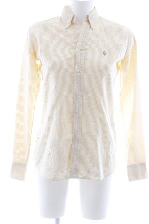 Ralph Lauren Hemd-Bluse weiß-hellgelb Streifenmuster Casual-Look
