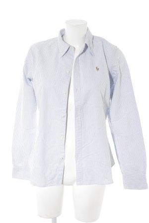 Ralph Lauren Hemd-Bluse weiß-himmelblau Casual-Look