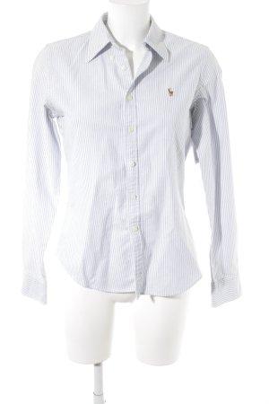Ralph Lauren Hemd-Bluse weiß-himmelblau Streifenmuster Casual-Look