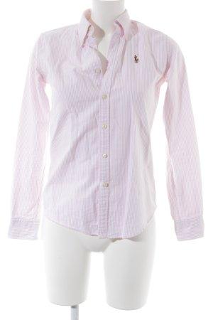 Ralph Lauren Hemd-Bluse weiß-rosé Streifenmuster Casual-Look