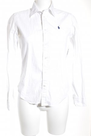 Ralph Lauren Hemd-Bluse wollweiß-dunkelblau Business-Look