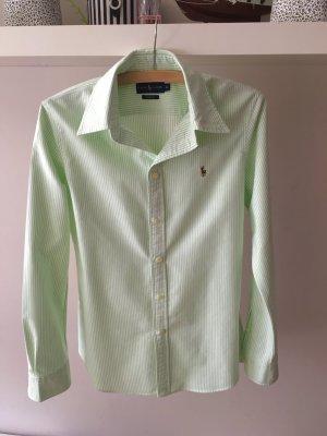 Ralph Lauren Hemd grün/weiß gestreift