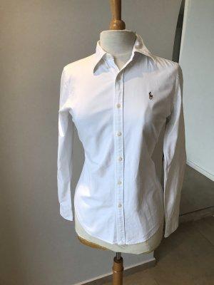 Ralph Lauren Hemd -Long Sleeve-Shirt, Weiß Skinny Fit