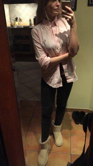 Ralph Lauren Hemd oversized Rosa weiß gestreift