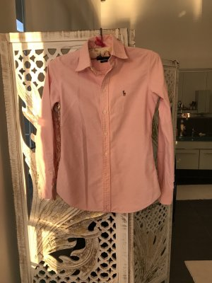 Ralph Lauren Long Sleeve Shirt white-pink cotton