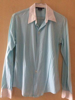 Ralph Lauren Hemdbluse hellblau/ Türkis mit weißen Streifen