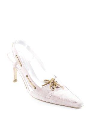 Ralph Lauren High Heel Sandaletten rosa-camel Romantik-Look