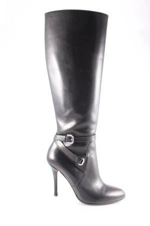 Ralph Lauren High Heel Stiefel schwarz Elegant