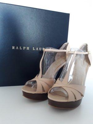 Ralph Lauren High Heels cream-nude leather