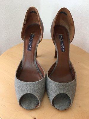 Ralph Lauren High Heel Sandal grey-cognac-coloured
