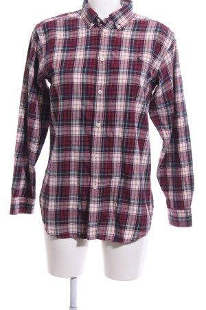 Ralph Lauren Camicia da boscaiolo rosso-blu stampa integrale stile casual