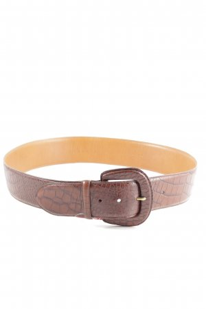 Ralph Lauren Cinturón de cadera marrón estampado de animales look Street-Style