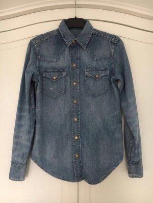 Ralph Lauren Jeansbluse blau, Größe XS/34