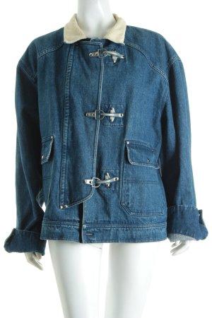 Ralph Lauren Jeansjacke blau-hellbeige Vintage-Look