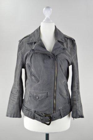 Ralph Lauren Jeansjacke mit Gürtel grau Größe S