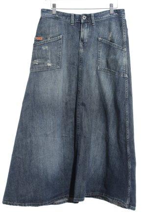 Ralph Lauren Jeansrock dunkelblau-graublau Casual-Look