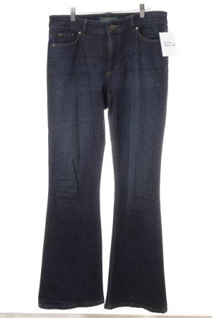 Ralph Lauren Denim Flares dark blue jeans look