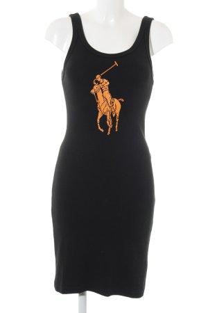 Ralph Lauren Jerseykleid schwarz-hellorange Casual-Look