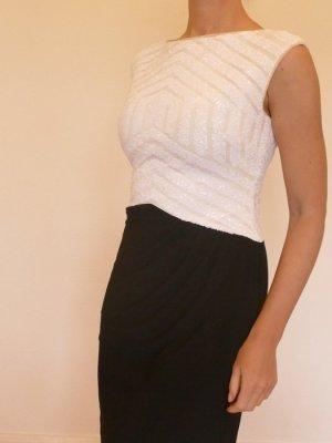 Ralph Lauren Jerseykleid schwarz weiß Neu Gr 36  S 38 M Pailetten
