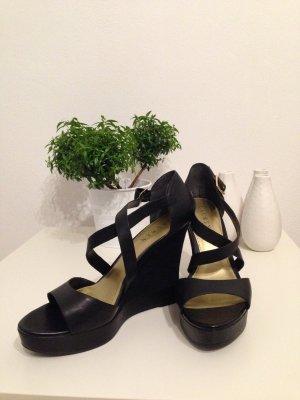 RALPH LAUREN Keilabsatz Sandale schwarz