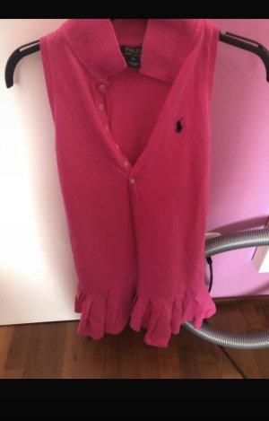 Polo Ralph Lauren Volante jurk magenta