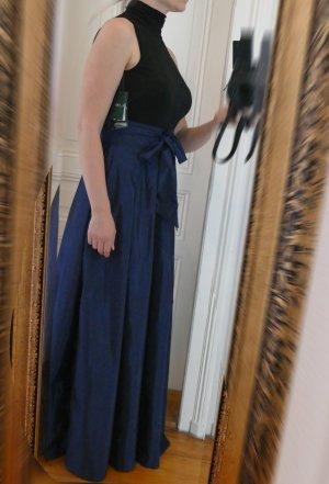 Ralph Lauren Kleid Ballkleid Colorblock Schwarz Blau NEU 36 38