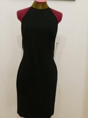 Ralph Lauren Kleid Cocktailkleid Gr 36 S schwarz Abendkleid Party schwarz gold
