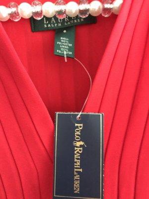 Lauren by Ralph Lauren Chiffon Dress red