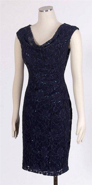 Ralph Lauren Kleid Gr 38 M dunkelblau Cocktailkleid Abendkleid