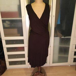 Lauren by Ralph Lauren Vestido cruzado marrón-negro Algodón