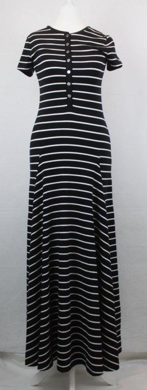RALPH LAUREN Kleid Gr. XS schwarz/weiß gestreift (17/2/441/R)