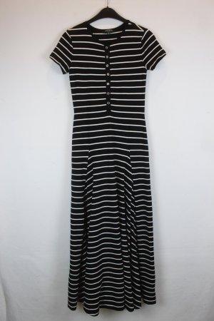 RALPH LAUREN Kleid Gr. XS schwarz/weiß gestreift