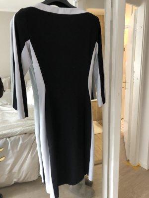 Lauren by Ralph Lauren Jurk met lange mouwen zwart-lichtgrijs