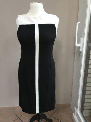 Ralph Lauren Kleid Klassiker weiß/schwarz, Gr.44