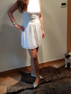 Ralph Lauren Kleid Lochspitze weiß