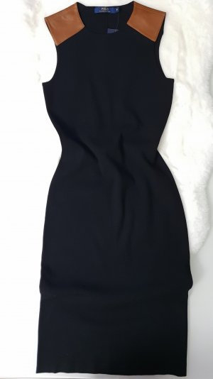 Ralph Lauren Kleid mit Leder Elementen