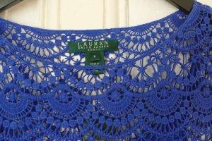 Ralph Lauren Kleid Neu Häkelkleid Baumwolle S 36 Sommerkleid blau