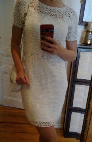 Ralph Lauren Kleid Neu Häkelkleid Strickkleid Baumwolle S 36