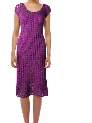 Ralph Lauren Kleid Neu Strickkleid Baumwolte M 38 Lila Häkelkleid purple