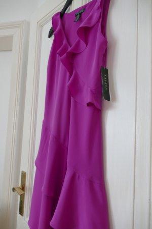 Ralph Lauren Kleid Pink Neu Gr 36 Rüschen V-Ausschnitt Ärmellos