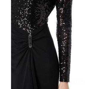 Ralph Lauren Kleid schwarz 34 36 S Abendkleid Pailletten Ballkleid