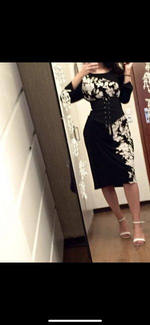 Ralph Lauren Kleid schwarz weiß Blumen