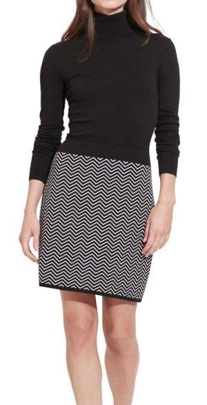 Ralph Lauren Kleid Schwarz Weiß S 36 Baumwolle Strickkleid Pulli Baumwolle
