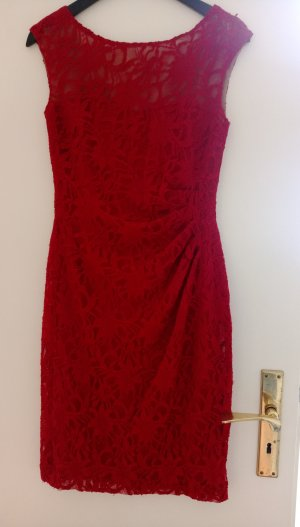 Ralph Lauren Kleid Spitze Gr 34 36 4 US S dunkelrot Cocktailkleid Neu