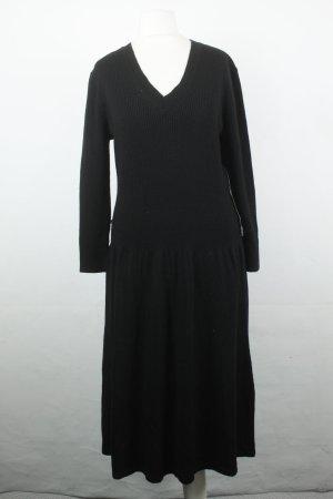 Ralph Lauren Kleid Strickkleid Midikleid Gr. L schwarz Merinowolle NEU