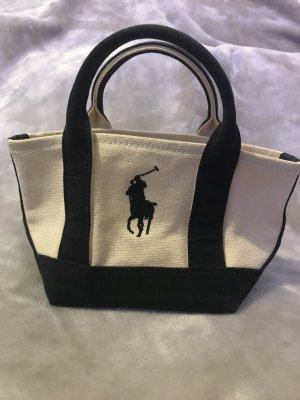Ralph Lauren Mini Bag natural white-dark blue