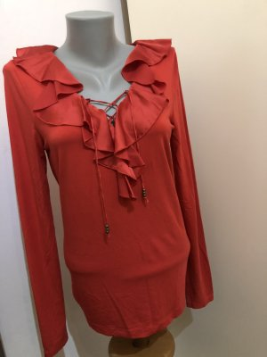 Lauren by Ralph Lauren Ruche blouse lichtrood-rood