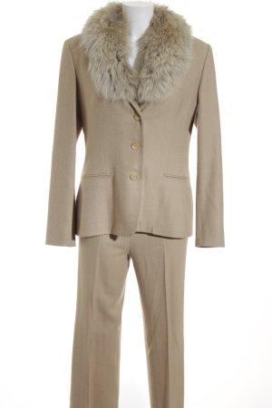 Ralph Lauren Kostüm creme-beige grafisches Muster Business-Look