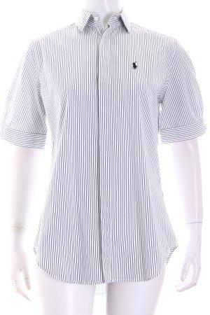 Ralph Lauren Kurzarm-Bluse schwarz-weiß Streifenmuster klassischer Stil