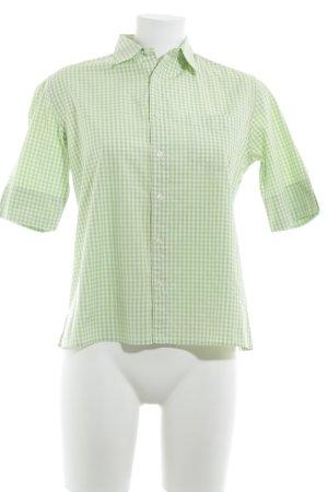 Ralph Lauren Kurzarm-Bluse weiß-hellgrün Karomuster sportlicher Stil